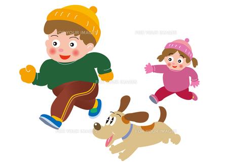 子供たちのジョギングの写真素材 [FYI00205218]