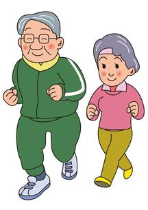 老夫婦のジョギングの写真素材 [FYI00205226]