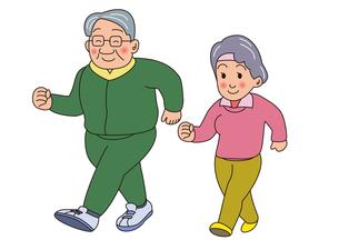 老夫婦のウォーキングの写真素材 [FYI00205227]