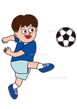 サッカーする少年の素材 [FYI00205237]
