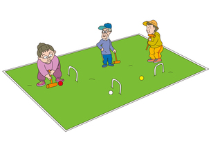 ゲートボールをする老人の写真素材 [FYI00205241]