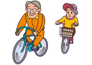 老夫婦のサイクリングの写真素材 [FYI00205244]