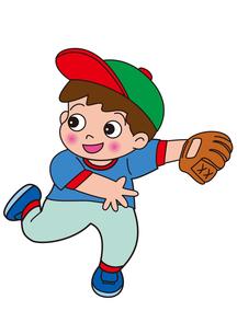 ユニフォーム姿の野球をする男の子の素材 [FYI00205258]