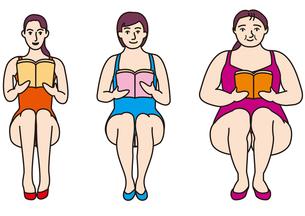 レオタード女性たち_Aの写真素材 [FYI00205261]