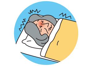 体調悪く寝込む老人_Aの写真素材 [FYI00205284]
