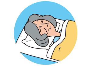 体調悪く寝込む老人_Bの写真素材 [FYI00205293]