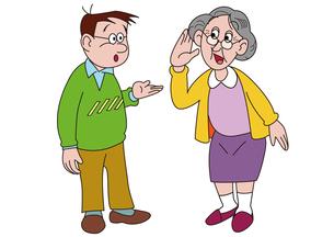 若者とおばあちゃんの会話の写真素材 [FYI00205322]
