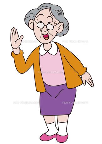 おばあちゃんの挨拶の写真素材 [FYI00205331]