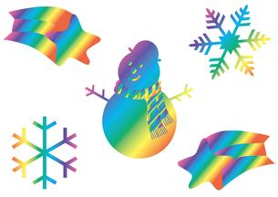 虹色の冬の写真素材 [FYI00205345]