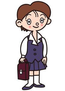 制服の女学生の写真素材 [FYI00205349]