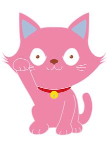 ピンクの招き猫の写真素材 [FYI00205370]