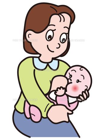 赤ちゃんにお乳を与えるお母さん。の写真素材 [FYI00205393]