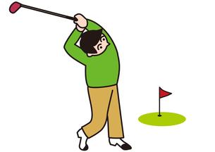 ゴルフで健康管理の写真素材 [FYI00205413]