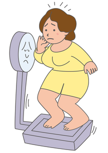 太って悩む女性 の写真素材 [FYI00205482]