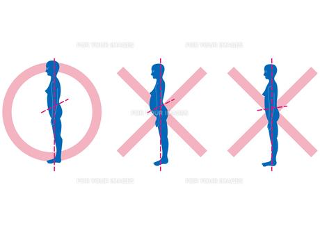 正しい立ち姿勢の素材 [FYI00205485]