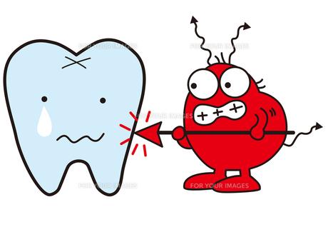 歯をいじめる虫歯菌の素材 [FYI00205491]