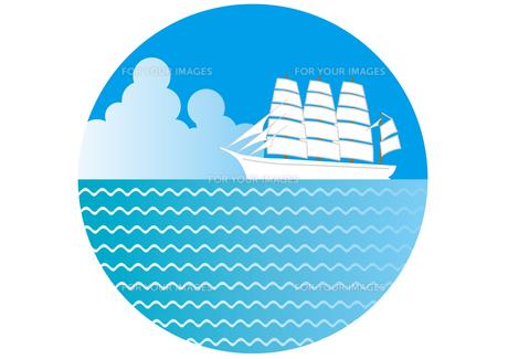 海をわたる帆船の素材 [FYI00205498]