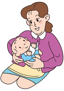 赤ちゃんをあやすお母さんの写真素材 [FYI00205528]