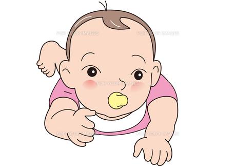 おしゃぶりをした、かわいい赤ちゃんの写真素材 [FYI00205536]