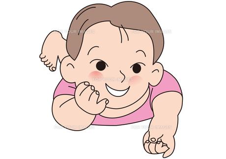 はらばいのかわいい赤ちゃんの写真素材 [FYI00205547]
