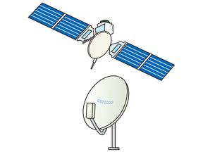 衛星とアンテナの写真素材 [FYI00205554]