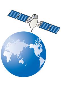 衛星と地球の写真素材 [FYI00205556]