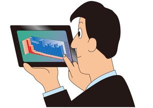 タブレットを使うビジネスマンの写真素材 [FYI00205565]