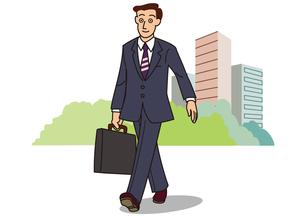 歩くビジネスマンの写真素材 [FYI00205576]