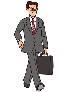 アタッシュケースを持ったビジネスマンの写真素材 [FYI00205591]