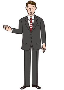 説明するビジネスマンの素材 [FYI00205594]
