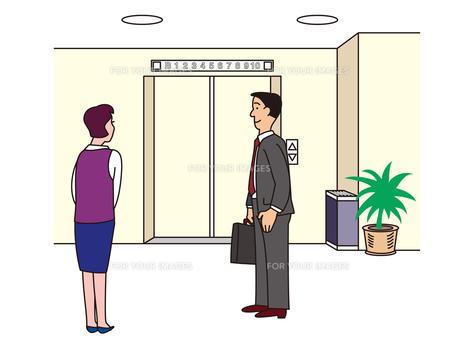 エレベーターホールでの写真素材 [FYI00205602]