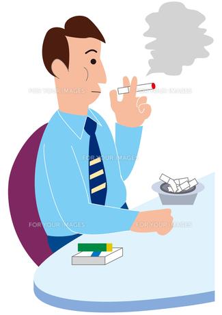 喫煙するビジネスマンの写真素材 [FYI00205609]