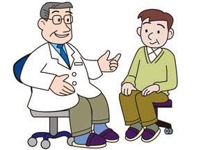 問診する医者と患者の写真素材 [FYI00205615]
