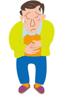 腹の具合が悪い男性の写真素材 [FYI00205622]