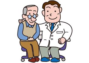 病気治癒を喜ぶ医者と患者の素材 [FYI00205668]