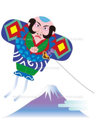 奴凧と富士山の写真素材 [FYI00205676]