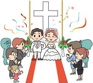 結婚式 教会の写真素材 [FYI00205849]