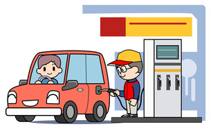 ガソリンスタンド 補給の写真素材 [FYI00205868]