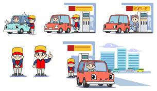 ガソリンスタンド セットの写真素材 [FYI00205891]
