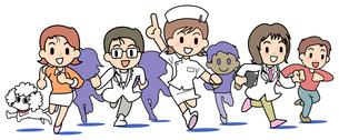 前進 病院の人々の写真素材 [FYI00205895]