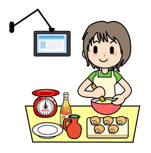 家事 ウェブのレシピの写真素材 [FYI00205903]