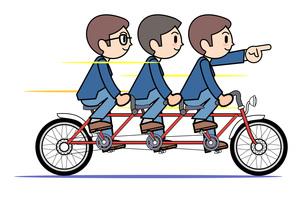 タンデム自転車 会社の写真素材 [FYI00205931]