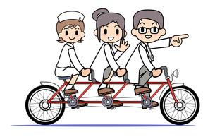 タンデム自転車 医療チームの写真素材 [FYI00205932]