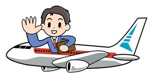 海外出張 航空機の写真素材 [FYI00205964]