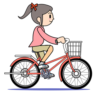 自転車に乗る母 1の写真素材 [FYI00205968]