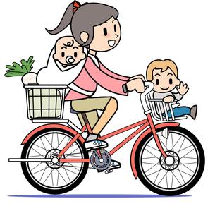 自転車に乗る母 4の写真素材 [FYI00205976]