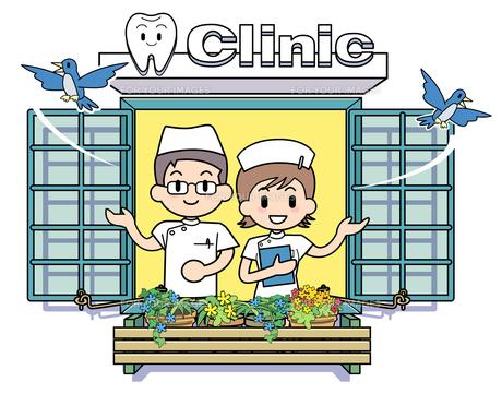 窓 歯科医院の写真素材 [FYI00206006]