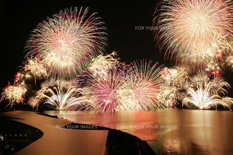 松江水郷祭湖上花火大会の素材 [FYI00206209]