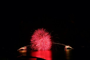 松江水郷祭湖上花火大会の素材 [FYI00206222]