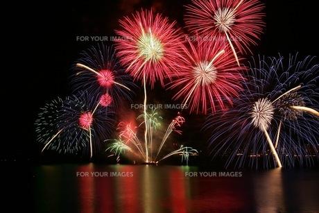 松江水郷祭湖上花火大会の素材 [FYI00206223]